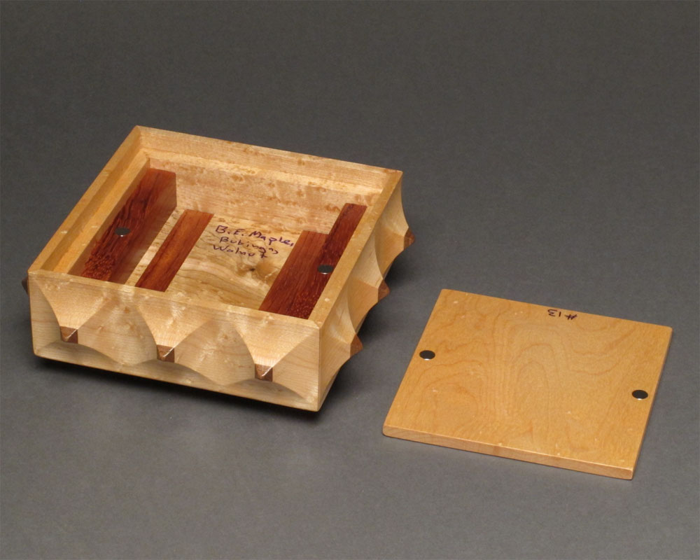 The Pinnacle Box Birdseye Maple Secret Compartment